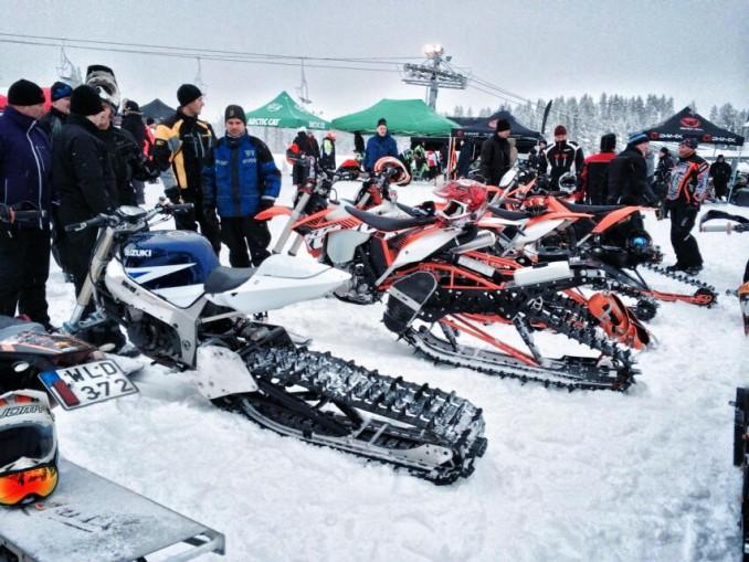 Intresset för Snowbikes i Piteå är stort.