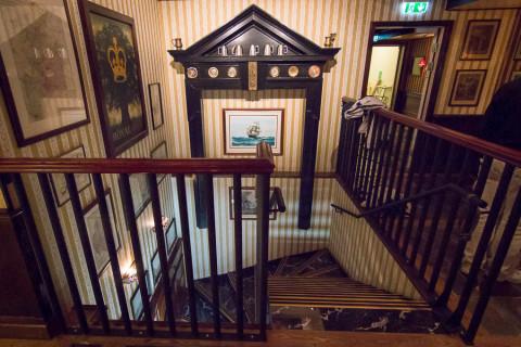 Detaljrikedomen utmärker Bishops. Piteås snyggaste trapp?