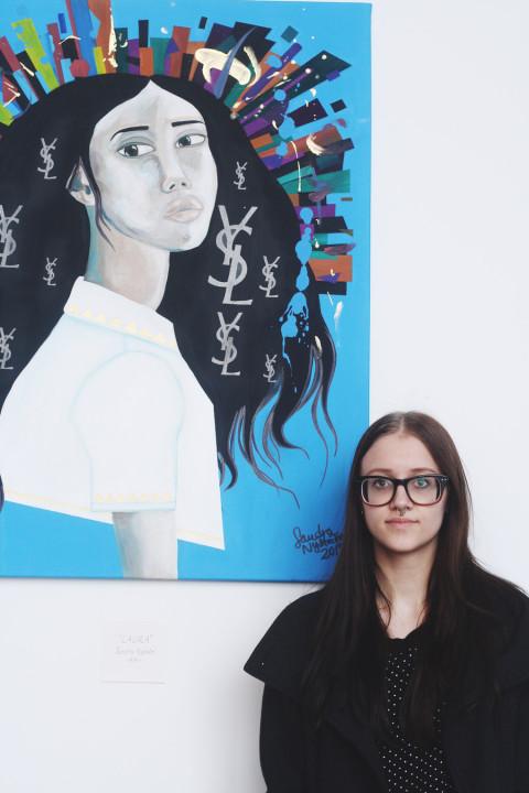 """""""Jag har läst mycket om hur designers tänker när de skapar mode, och hur konstnärer inspireras av det"""", säger Sandra Nyström."""