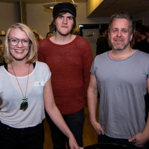 Elin Grunditz (t.v.) och Pär Soini (t.h.) representerade BD Pop. I mitten står Filip Lundgren.