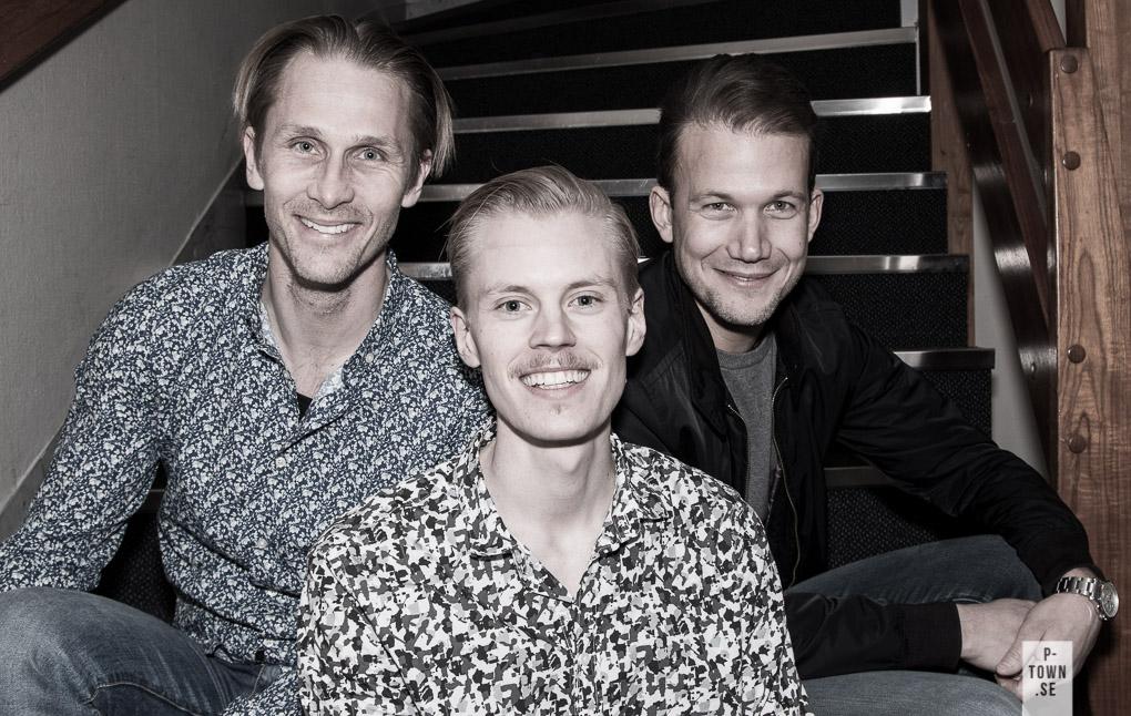 Pär Eriksson, Petter Nyberg och Henrik Gröntvedt från Restaurang CG.