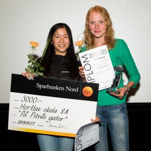 """Vilma Westerlund och Anna Andersson vann ett dokumentärpris för filmen """"På Piteås gator""""."""
