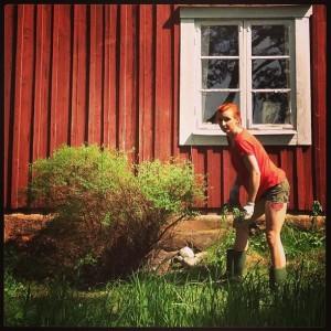 Trädgårdsliv och träning är två av Vivekas hobbies.