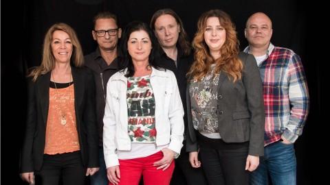Great Gig består av Folke Wiklund, Peter Eliasson, Mats Lundberg. Cia Wiklund, Chrisina Pettersson, och Mari Ramnek.