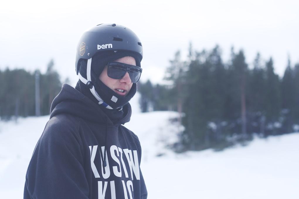 Gustaf Lundström i hemmabacken Vallsberget/Lindbäcksstadion.