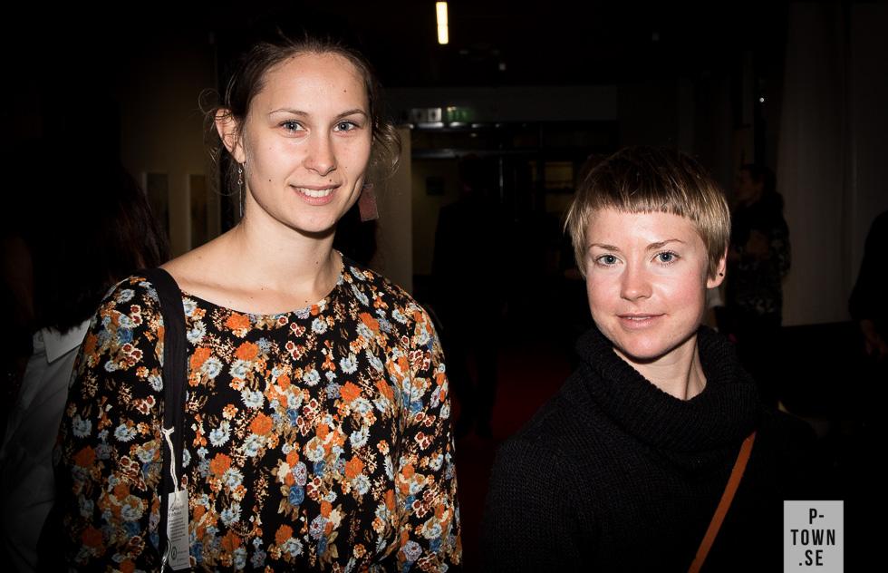 Den professionella dansaren Erika Pekula Pettersson till vänster var såklart där.
