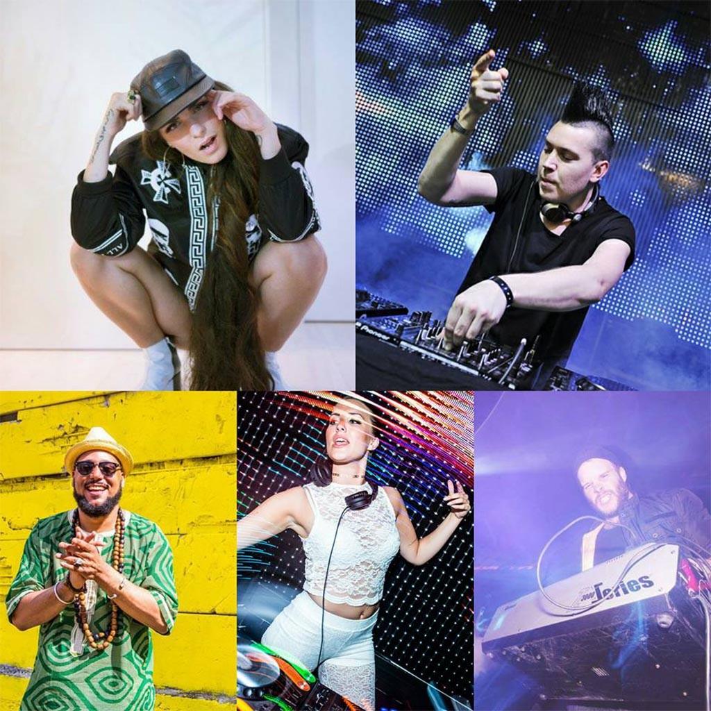 Årets lineup: Cleo, Albin Myers, Kaliffa, DJ Annie och DJ Danne.
