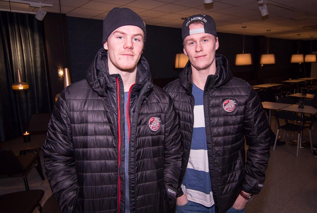 Två hockeylirare som var med på invigningen, Carl Becker och Emil Wrenman.