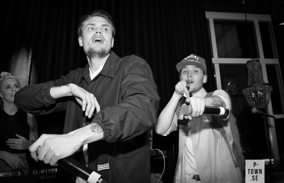 Kalle G. och Griljonären öste på scen.