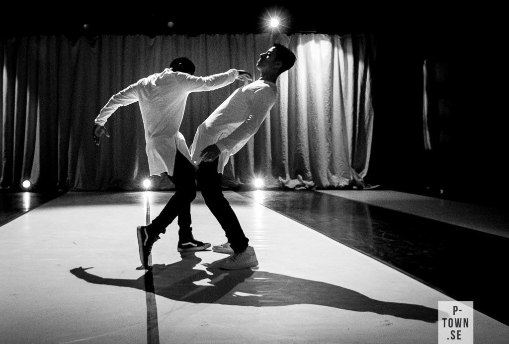 Freestyle med dansarna Hasan AlHamsho och Kubuntu Gloire Packny.