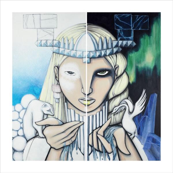 """3. SIGNERAT TRYCK """"ICE EMPRESS"""" av konstnären  Amanda Mendiant. Värde 700 kr."""
