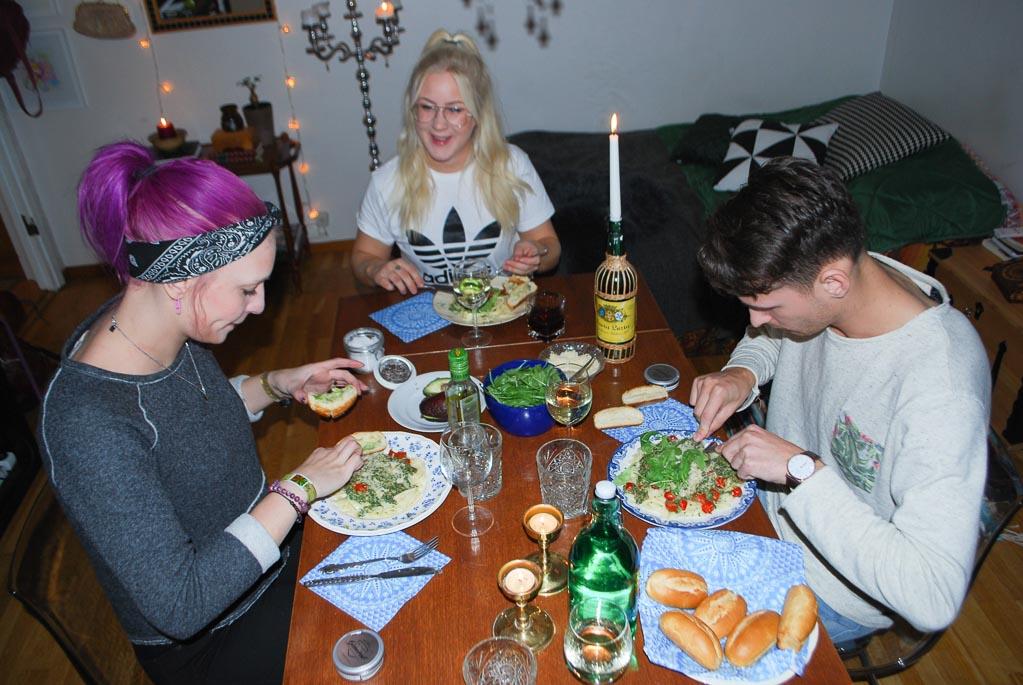 Vegan challengers: Elise, Ida och Oscar.