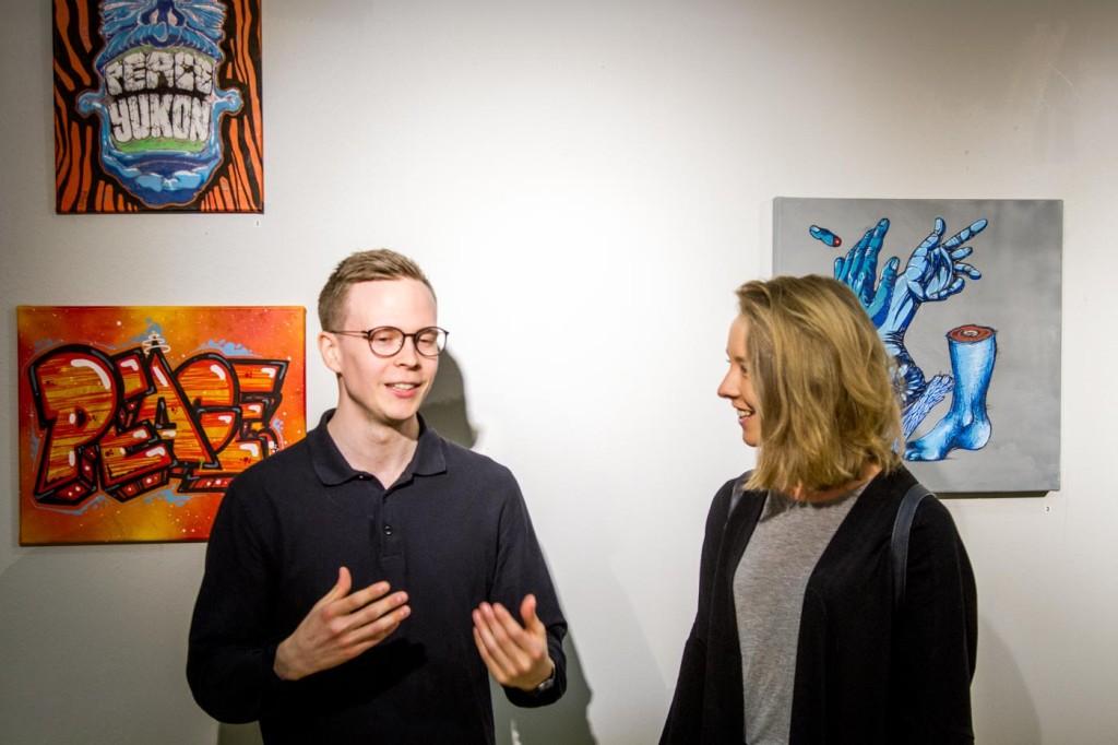 Vi liveintervjuade Kim på vår Instagam @ptownpitea, kika in där för att se när han berättar om sin favorittavla från utställningen.