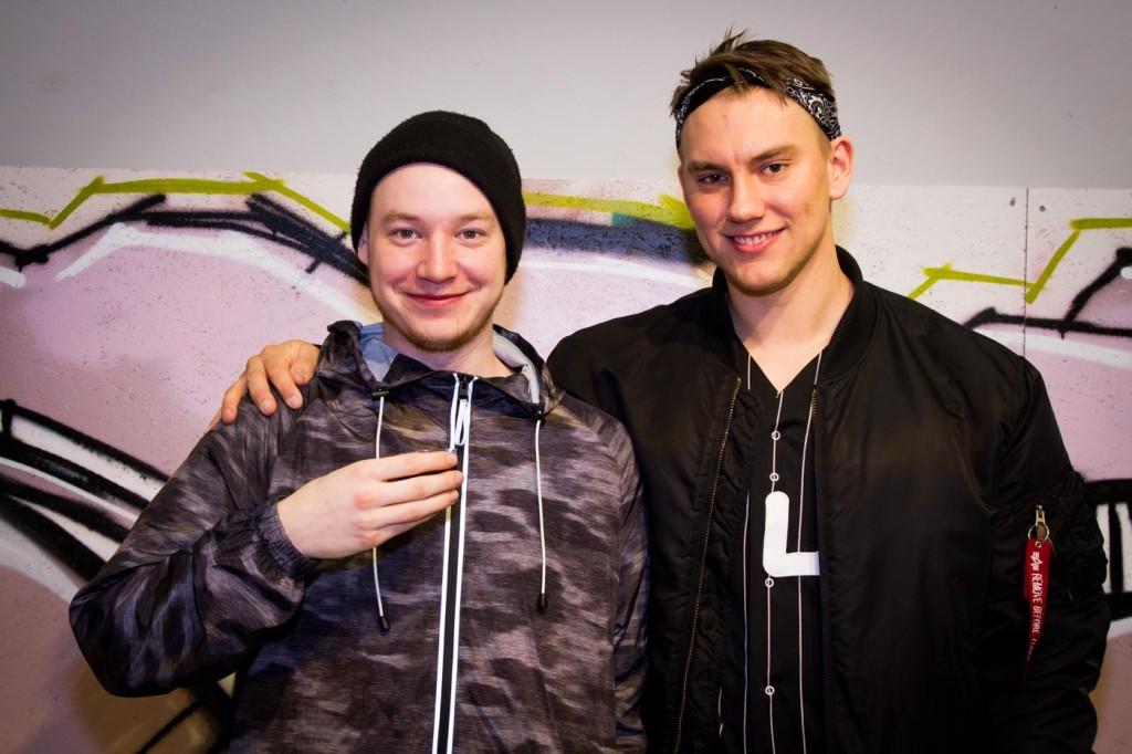 Pontus Hjemdahl och William Marklund var på plats.