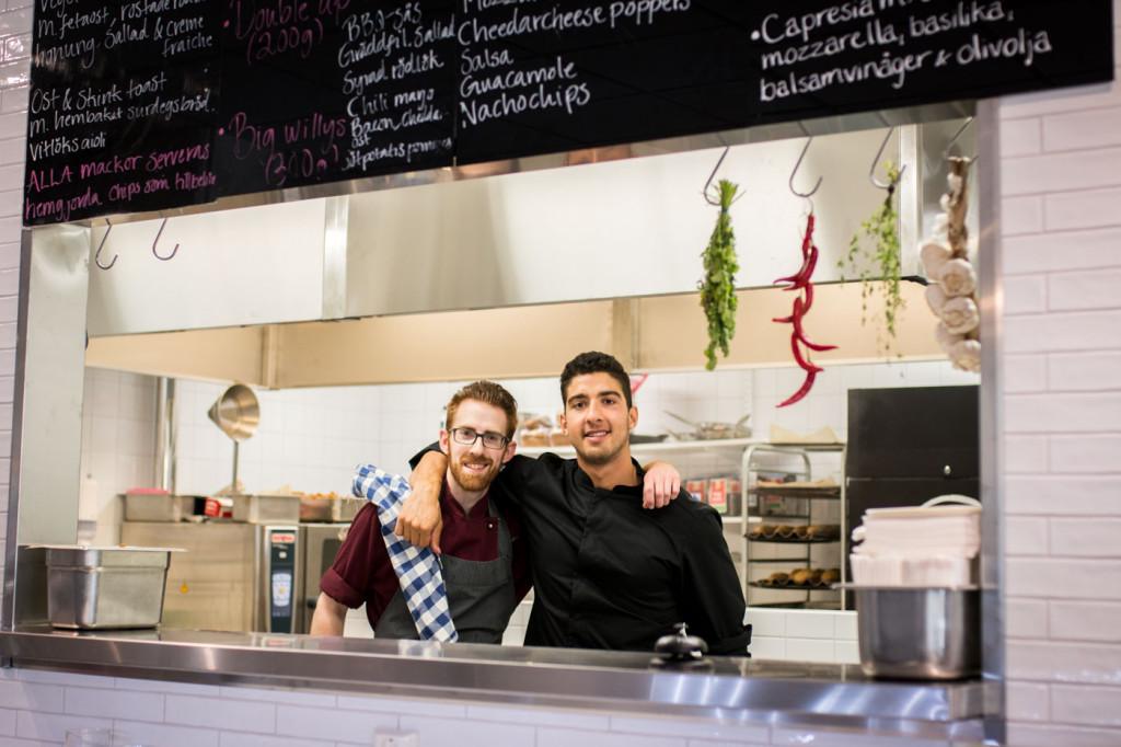 Kocken Markus Wimmer och ägare Sami Abbad.